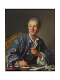 Portrait of Denis Diderot, 1767 Giclee Print by Louis Michel Van Loo