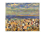Beach at St. Malo, C. 1907 Giclee Print by Maurice Brazil Prendergast