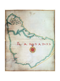 Map of Barbados, 1683 Giclee Print