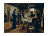 The Mealtime Prayer, 1885 Giclee Print by Fritz von Uhde
