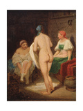 In Steam Bath, End 1820S Giclee Print by Alexei Gavrilovich Venetsianov