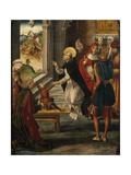 Saint Dominic Resurrects a Boy, 1493-1499 Giclée-tryk af Pedro Berruguete
