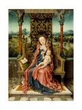 Madonna and Child Enthroned, C. 1510 Giclee Print by Aelbrecht Bouts