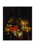 Banquet Still Life, 1667 Giclee Print by Abraham Hendricksz van Beijeren