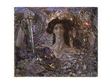 The Six Winged Seraph, 1904 Giclee Print by Mikhail Alexandrovich Vrubel