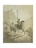 Illustration to the Book Don Quixote De La Mancha by M. De Cervantes, 1863 Reproduction procédé giclée par Gustave Doré