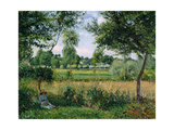 Morning Sunlight Effect, Eragny, 1899 Giclee Print by Camille Pissarro