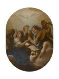 Three Music Making Angels, before 1720 Giclee Print