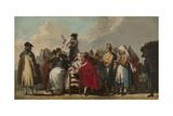 The Venetian Charlatan, Ca 1764-1765 Giclée-tryk af Giandomenico Tiepolo