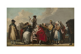 The Venetian Charlatan, Ca 1764-1765 Giclee Print by Giandomenico Tiepolo