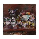 Still Life with Coffee Cups, 1912 Giclee Print by Anton Faistauer