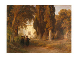 The Monastery Garden, after 1857 Giclee Print by Oswald Achenbach