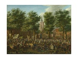 The Grote Markt at the Hague, 1760 Giclee Print by Paulus Constantijn la Fargue