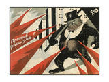 Down with Fascism!, 1929 Giclee Print by Viktor Nikolaevich Deni