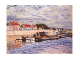 Barges on the Loing at Saint-Mammès, 1885 Giclee Print by Alfred Sisley