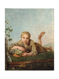 Shepherd Boy with a Pipe, 1820S Giclee Print by Alexei Gavrilovich Venetsianov