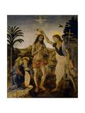 The Baptism of Christ, Ca 1470-1475 Giclée-tryk af Leonardo da Vinci