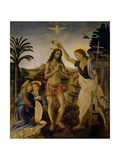 The Baptism of Christ, Ca 1470-1475 Giclee Print by  Leonardo da Vinci