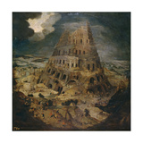 The Tower of Babel, Ca 1595 Reproduction procédé giclée par Pieter Brueghel the Younger