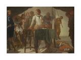 Mucius Scaevola Confronting King Porsenna Giclee Print by Bernardo Cavallino