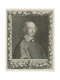 Portrait of Cardinal Mazarin, 1656 Reproduction procédé giclée par Robert Nanteuil