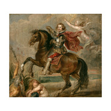 Equestrian Portrait of the Duke of Buckingham Giclee Print by Pieter Paul Rubens
