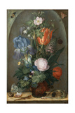 Flower Still Life with Two Lizards, 1603 Giclee Print by Roelant Savery