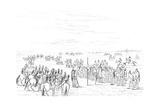 Native American Horse Race, 1841 Giclee Print