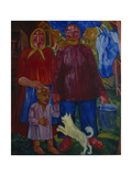 The Family of the Serednyaks, 1929 Giclee Print by Viktor Nikandrovich Palmov