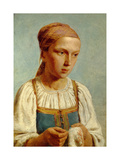 Embroidery Country Girl, 1843 Giclee Print by Alexei Gavrilovich Venetsianov