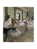 The Ballet Class, Between 1871 and 1874 Reproduction procédé giclée par Edgar Degas