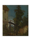 Landscape with a Footbridge, Ca 1518 Giclee Print by Albrecht Altdorfer