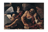 Saint Matthew and the Angel, 1622 Giclee Print by  Guercino