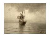 Sailing Ship, 1892 Giclee Print by Lev Felixovich Lagorio