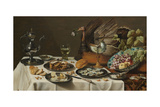 Still Life with Turkey Pie, 1627 Giclee Print by Pieter Claesz
