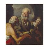 Saint Peter Healing a Paralytic Giclee Print by Bernardo Strozzi