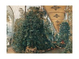 Interior of the Palm House of Lednice Palace Giclee Print by Rudolf von Alt