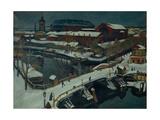 Winter Landscape, Petrograd, 1920 Giclee Print by Osip Emmanuilovich Braz