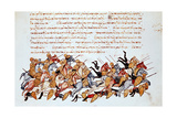Byzantine Cavalrymen Overwhelming Enemy Cavalry and Foot Soldiers Giclee Print