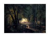 Forest Path Near Spandau, 1835 Giclee Print by Carl Blechen