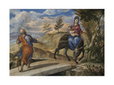The Flight into Egypt, C. 1570 Giclee Print by  El Greco