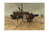 Fishing Boat on the Beach, 1882 Giclee Print by Anton Mauve