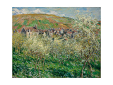 Flowering Plum Trees, 1879 Giclee Print by Claude Monet
