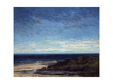 The Sea, 1867 Giclee Print by Gustave Courbet