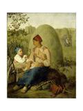 Haymaking, before 1827 Giclee Print by Alexei Gavrilovich Venetsianov