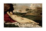 Sleeping Venus, 1508-1510 Reproduction procédé giclée par  Giorgione