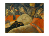 In the Circus, C. 1908 Giclee Print by Boris Dmitryevich Grigoriev