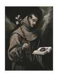 Saint Anthony of Padua, C. 1580 Giclee Print by  El Greco