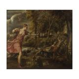 The Death of Actaeon, Ca 1559-1575 Reproduction procédé giclée par  Titian (Tiziano Vecelli)