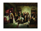 The Silesian Weavers, 1844 Giclee Print by Carl Wilhelm Huebner
